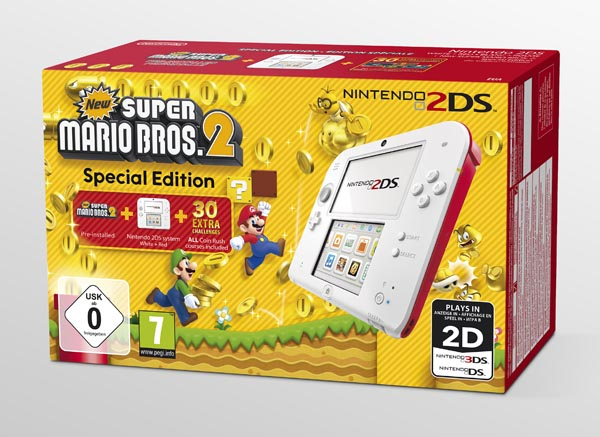 New Super Mario Bros. 2 avec un pack Nintendo 2DS Edition spéciale
