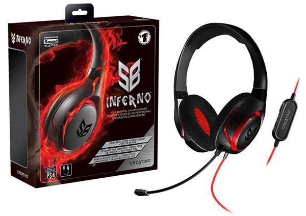 Le SB Inferno, nouveau casque gaming de Creative