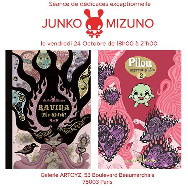 Junko Mizuno en dédicace à la boutique Artoyz le 24 Octobre