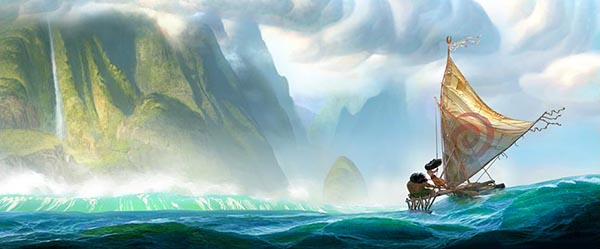 MOANA : un premier concept art pour le nouveau film des studios d'animation Disney