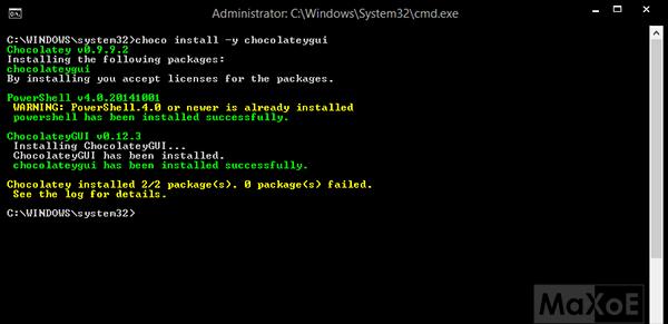 Le Clic de MaXoE : Chocolatey - Gérer ses logiciels en ligne de commande