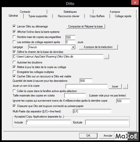 Le Clic de MaXoE : Ditto, ou comment gérer ses presse-papier