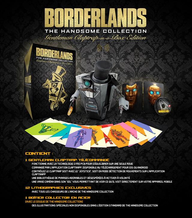 Présentation de l'Edition Borderlands: The Handsome Collection Gentleman Claptrap-in-a-Box