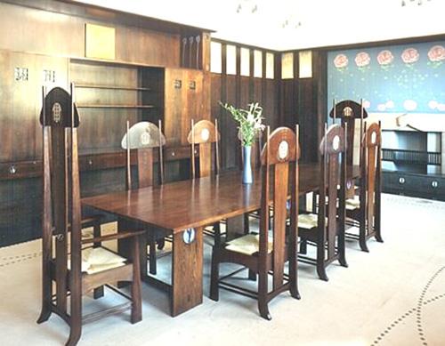Meubles salle à manger, Charles Rennie Mackintosh
