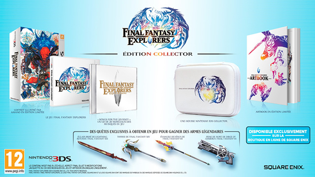 Final Fantasy Explorers : le contenu de l'édition collector