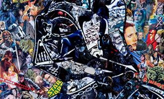 Galerie Arludik vend aux enchères l'oeuvre hommage à Star Wars de Mr Garcin
