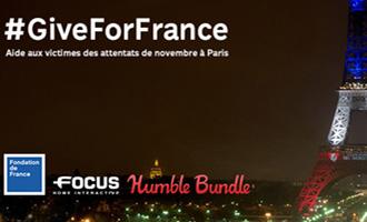 Soutenez #GiveForFrance avec le Humble Bundle de Focus Home Interactive