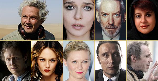 Le Jury du 69e Festival de Cannes avec George Miller, Kirsten Dunst, Donald Sutherland...