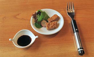 Une fourchette électrique qui donne l'impression de manger salé