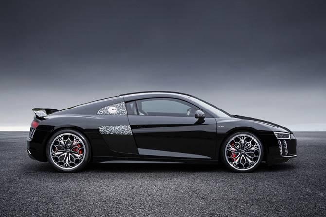 L'Audi R8 spécialement conçue pour le film Kingslaive : Final Fantasy XV au Mondial de l'Automobile