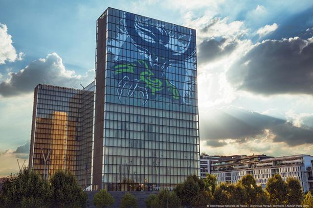 World of Warcraft: Légion, un artwork géant d'Illidan habille la BnF pour sa sortie